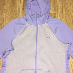 Nike women's purple zip up hoodie